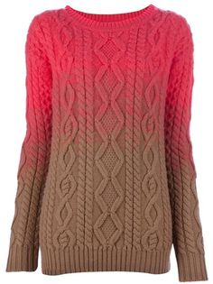 Dsquared2 Cable Knit Sweater in Pink