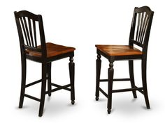 Home Decorators Collection | East West Furniture CHSBLKW Stool Set with Wood Seat Black and cherry Finish Set of 2 -- More info could be found at the image url. Note:It is Affiliate Link to Amazon.