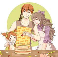 Fire Emblem: Awakening - Gaius, Sumia and Cynthia. Aww!