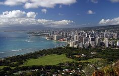 View of the state capital, Honolulu