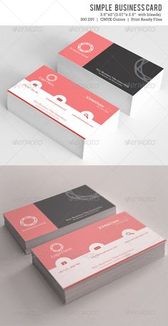 """Simple Business Card Vol-01  #GraphicRiver        Simple Business Card VOL-01  3.5×2 (3.75"""" x 2.25"""" with bleed settings)   300DPI CMYK Print Ready!  All information include in help file    Open Sans   Code      Created: 14November13 GraphicsFilesIncluded: PhotoshopPSD Layered: Yes MinimumAdobeCSVersion: CS3 PrintDimensions: 3.5x2 Tags: aylak #black #business #businesscard #card #cards #color #creative #designer #graphic #graphicdesigner #horizontal #kartvizit #levent #leventtemur…"""