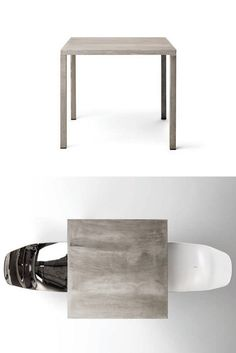 Square #table ILTAVOLO by Opinion Ciatti | #design Lapo Ciatti #concrete @Opinion Ciatti