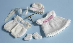 Catherine French knitted baby clothes