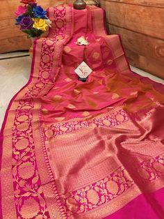 Fancy Sarees Party Wear, Party Sarees, Red Saree Wedding, Red Wedding, Katan Saree, Banarsi Saree, Wedding Saree Collection, Saree Photoshoot, Saree Trends