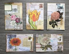 Atc Cards, Journal Cards, Junk Journal, Hand Lettering Envelopes, Mail Art Envelopes, Pen Pal Letters, Letter Art, Collage Art, Collages