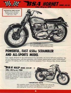The BSA Hornet: A 650cc Trail Bike