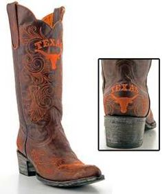Texas Longhorns Ladies Game Day Boots #fashion #ut #football #cowgirl