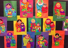 sandra's savvy teaching tips: Matryoshka Doll Art Lesson