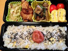 松浦有里's dish photo 今日こそ栗ご飯 また月曜日はじまりました | http://snapdish.co #SnapDish #お弁当 #お昼ご飯 #お月見