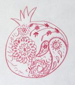 "Drawing by Leila Mirmo, ""Fancy pom"""