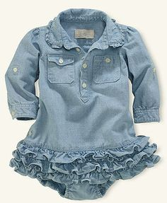Ralph Lauren Baby Dress, Baby Girls Chambray Dress