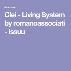 Clei - Living System by romanoassociati - issuu
