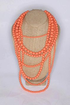 Will ship Dec 4 Coral MultiStrand Statement by BelleBlakeCouture, $25.00