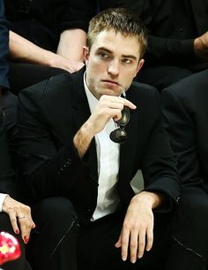 Robert Pattinson at Kris Van Assche Dior show in Paris, June 2016.