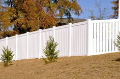 White 2 Rail Vinyl Semi-Privacy Fence