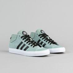 9f8f8efa0e6 Adidas X Welcome Skateboards Matchcourt Mid Shoes - Mist Slate   Core Black    White