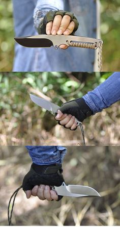 D2 fixed blade fish Hunting survival pocket knife with Paracord outdoor Camping tactical knife equipment #survivalknife