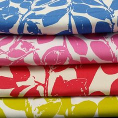 A glimpse at a design from the Garden Scent range hand screen printed on 100% cotton.