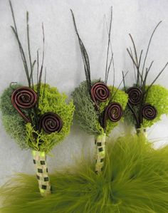 Frolic Groomsman Boutonniere  green moss and by EcoLecticEvents, $8.00
