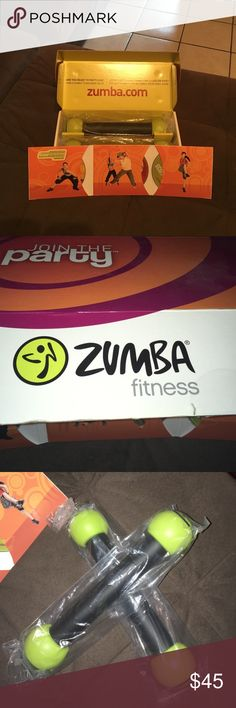 Complete Zumba starters kit NWOT never been used! Comes with 3 DVDs and dung bells! Everything is in original packaging and a wonderful way to start the new year ✨ Other
