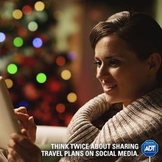 Be careful when sharing travel plans on social media, but if you must - include a virtual security sign on your profile page and share that you're protected! #StaySafe #TravelSafe #HappyHolidays #ADT #VirtualSecurity