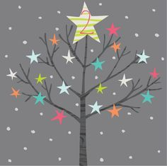Advent day 2 Christmas Calendar, Christmas Love, All Things Christmas, Star Illustration, Christmas Illustration, Advent Calander, Ding Dong, Winter Ideas, Merry And Bright