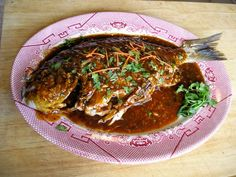 Traditional Chinese Recipes: WHOLE FISH IN CHILI SAUCE