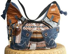 The New York recycled large  slouchy purse with by HommageEternal, $150.00
