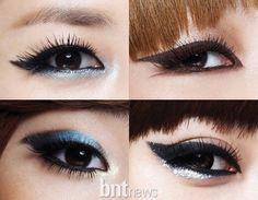 makeup Photo: Makeup of Korean girl band Korean Makeup Look, Asian Makeup, 2ne1, Korean Skincare Steps, Korean Girl Band, Korean Makeup Tutorials, How To Apply Eyeliner, Photo Makeup, Girl Bands
