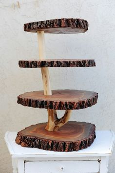 Cake stand. Whimsical woodland theme wedding