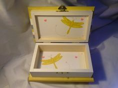 Beautiful handcrafted wood box for baby girl.  Enchanted Giftss  on Etsy.