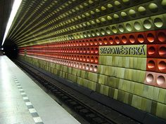 A Prague metro station.