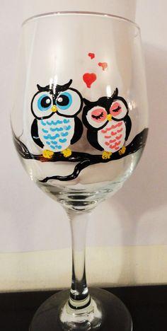 Owl Always Love You Wine Glass by eracindym on Etsy, $12.00