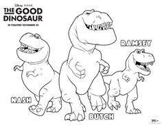 The Good Dinosaur Nash Butch Ramsey Coloring Page
