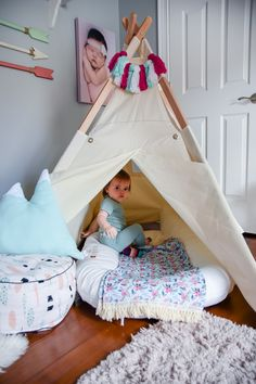 Teepee in Toddler Ro