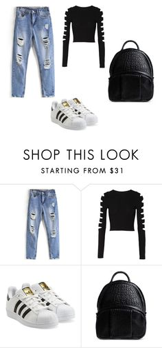 """LOOK OF YOUNG"" by sofia-block on Polyvore featuring косметика, Cushnie Et Ochs, adidas Originals и Alexander Wang"