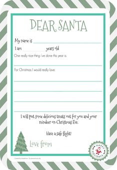 Oh So Kel free letter to Santa printable - including 'one really nice thing I've done this year' so they can reflect on their good deeds. Free Printable Santa Letters, Free Letters From Santa, Santa Letter Template, Free Christmas Printables, Free Printables, Christmas Activities For Toddlers, Preschool Christmas, Kids Christmas, Christmas 2019