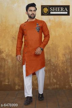 Kurta Sets Attractive Men's Wear Kurta set Top Fabric: Cotton Bottom Fabric: Cotton Sleeve Length: Long Sleeves Bottom Type: Straight Pajama Stitch Type: Stitched Pattern: Solid Sizes: XL (Chest Size: 45 in Top Length Size: 44 in Bottom Waist Size: 34 in Bottom Length Size: 42 in)  L (Chest Size: 43 in Top Length Size: 44 in Bottom Waist Size: 32 in Bottom Length Size: 42 in)  M (Chest Size: 41 in Top Length Size: 44 in Bottom Waist Size: 30 in Bottom Length Size: 42 in)  XXL (Chest Size: 47 in Top Length Size: 44 in Bottom Waist Size: 36 in Bottom Length Size: 42 in) Country of Origin: India Sizes Available: M, L, XL, XXL *Proof of Safe Delivery! Click to know on Safety Standards of Delivery Partners- https://ltl.sh/y_nZrAV3  Catalog Rating: ★4 (2556)  Catalog Name: Fashionable Men Kurta Sets CatalogID_1030940 C66-SC1201 Code: 368-6476999-
