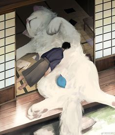 Japanese illustrator imagines a world where human beings live Ilustrador japonês imagina um mundo onde seres humanos vivem entre animais gigantes Japanese illustrator imagines a world where humans live among giant animals - Giant Animals, Cute Animals, Animals Images, Art Mignon, Illustrator, Art Japonais, Japanese Artists, Aesthetic Art, Cute Drawings