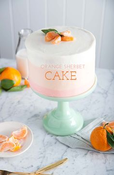 """Orange Sherbet Cake in my latest . Home Cookin' ! """"Tell Me What I Gotta Do . To Get To Your House"""". in Costa Rica, for Some """"Sweet Treats"""" Made Healthy Just Cakes, Cakes And More, Cupcakes, Cupcake Cakes, Just Desserts, Delicious Desserts, Cake Recipes, Dessert Recipes, Baking Recipes"""