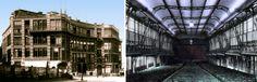 Maison du People. Bruxelas, 1896-8. Arquiteto Victor Horta  Bruxelas foi também um grande centro e, na arquitetura. A Bélgica experimentava grande prosperidade devidos aos ganhos da Revolução Industrial e a expansão colonial na África. O Art Nouveau representava esta transformação e forneceu prestigiosos nomes como Victor Horta,
