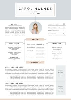 Resume Template 4page | Milky Way by The.Resume.Boutique on /creativemarket/ Resume Tips, Resume Cv, Resume Design, Resume Examples, Resume Ideas, Resume Format, Basic Resume, Cv Format, Manager Resume