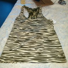 SPARKLE & FADE - Zebra Print Beige & Black Sleeveless Top - Size S. In store or on eBay |  http://ebay.to/2nr8sII #Everett #resale