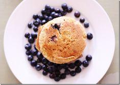 Memorial Day Breakfast: Lemon Cornmeal Blueberry Pancakes (vegan, gluten free) | The Full Helping