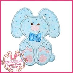 Floppy Bunny Applique - 5 Sizes! | What's New | Machine Embroidery Designs | SWAKembroidery.com Lynnie Pinnie