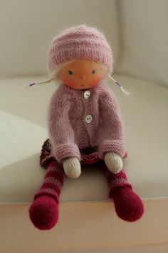 Custom order for Erika Waldorf knitted doll 13 by danielapetrovajyh