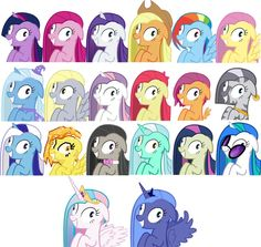 Rainbow Dash has a cool mane but looks super crazy along with the rest of them. And I'm pretty sure Spitfire is melting...