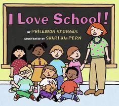 I Love School! by Philemon Sturges http://www.amazon.com/dp/0060092866/ref=cm_sw_r_pi_dp_IP54ub1EPXW4A
