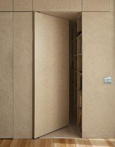 yates residence concealed door kitchen