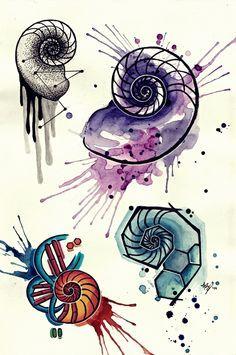 nautilus sacred geometry tattoo - Google Search
